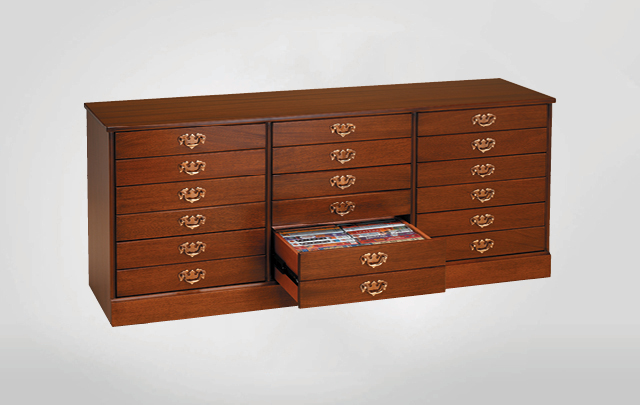 Dean Watts Nine drawer, triple width storage cabinet