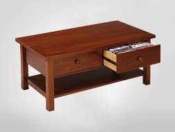 Dean Watts Coffee table with two drawer CD / DVD storage